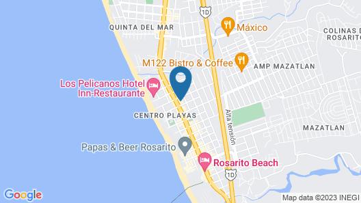 Del Mar Inn Rosarito Map
