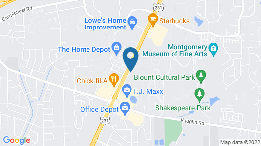 Extended Stay America Suites Montgomery Eastern Blvd Map