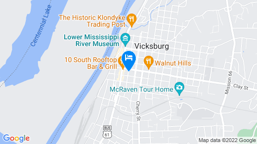 Studio 6 Vicksburg, MS - Downtown Map