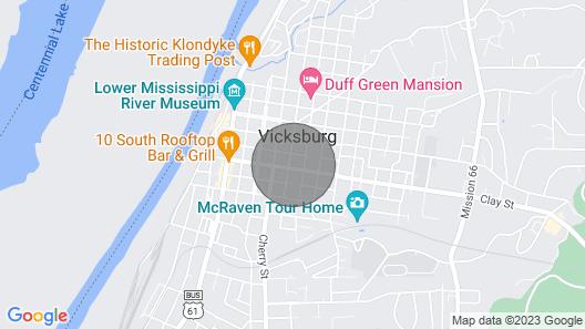 Vicksburg Home w/3 Porches, Walk to Downtown Map