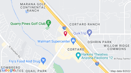 Days Inn & Suites by Wyndham Tucson/Marana Map