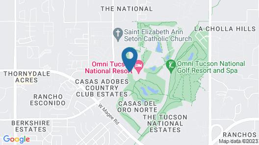 Omni Tucson National Resort Map