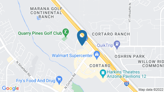 Comfort Inn & Suites North Tucson - Marana Map