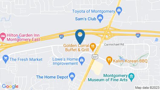 Sleep Inn & Suites Montgomery East I-85 Map
