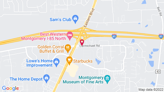 Courtyard by Marriott Montgomery Map