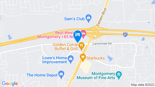 Extended Stay America Suites Montgomery Carmichael Rd Map
