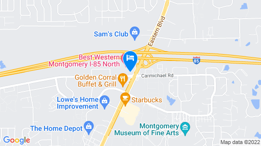 Americas Best Value Inn Montgomery, AL Map