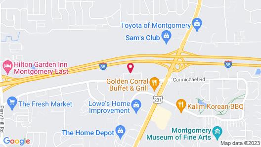WoodSpring Suites Montgomery Map