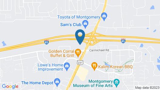 Best Western Montgomery I-85 North Hotel Map