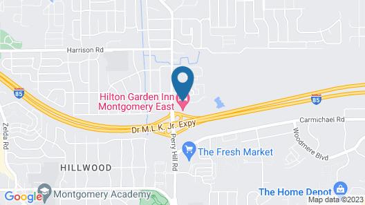 Hilton Garden Inn Montgomery East Map