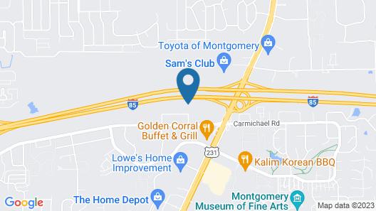 Comfort Inn & Suites Montgomery East Carmichael Rd Map