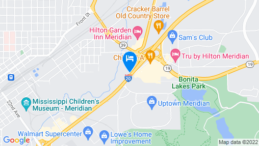 Home2 Suites by Hilton Meridian Map