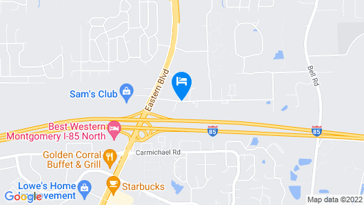 Comfort Suites Montgomery East Monticello Dr. Map