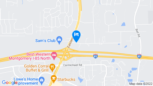 Travelodge by Wyndham Montgomery East Map