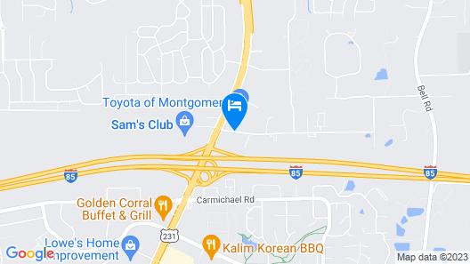 Express Inn East Map