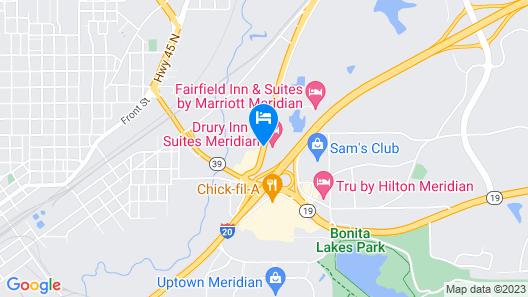 Drury Inn & Suites Meridian Map