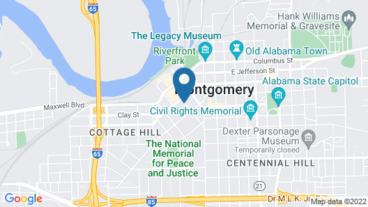 Staybridge Suites Montgomery - Downtown, an IHG Hotel Map