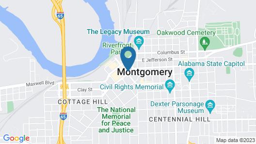 Hampton Inn & Suites Montgomery-Downtown Map