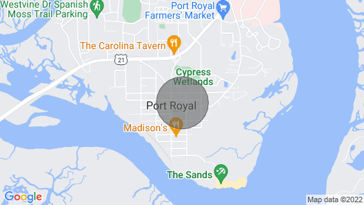 Spacious, pet-friendly home near Parris Island with wifi Map