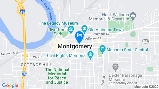 Doubletree by Hilton Hotel Montgomery Downtown Map