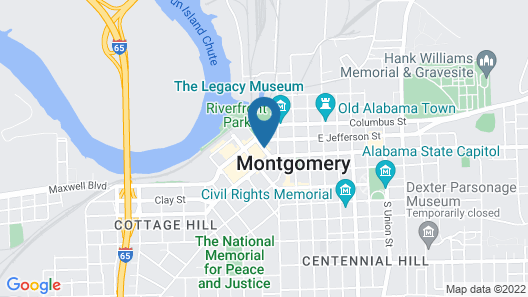 SpringHill Suites by Marriott Montgomery Downtown Map