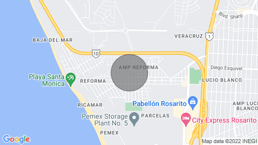 RENT BEAUTIFUL HOUSE 5 MIN OF PAPAS AND BEER ROSARITO Map