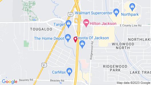 Motel 6 Jackson, MS Map