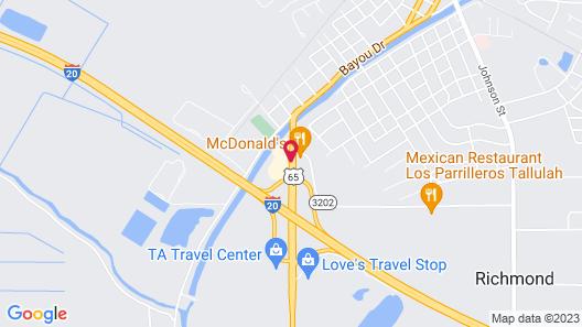 Super 8 by Wyndham Tallulah LA Map