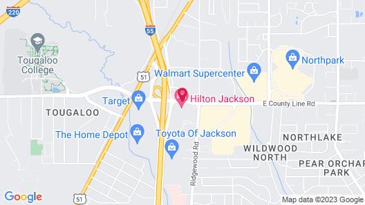 Hilton Jackson Map