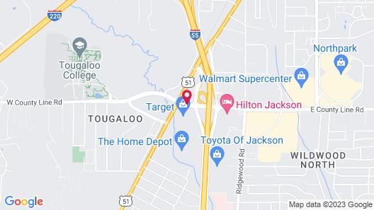 Drury Inn & Suites Jackson - Ridgeland Map