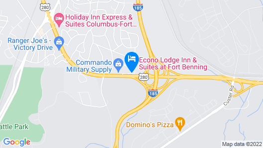 Econo Lodge Inn & Suites at Fort Benning Map