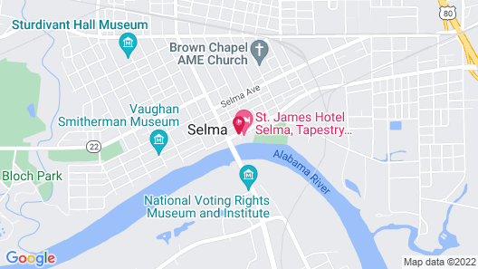 St. James Hotel Selma, Tapestry Collection by Hilton Map