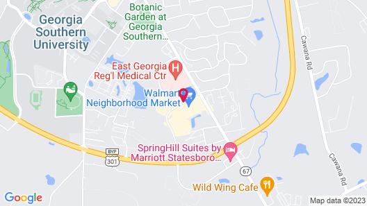 Hampton Inn Statesboro Map