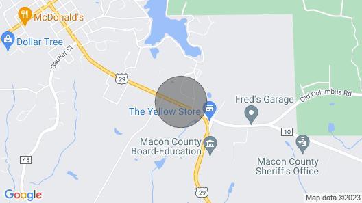 Spacious Retreat, 2 Miles to Tuskegee University Map