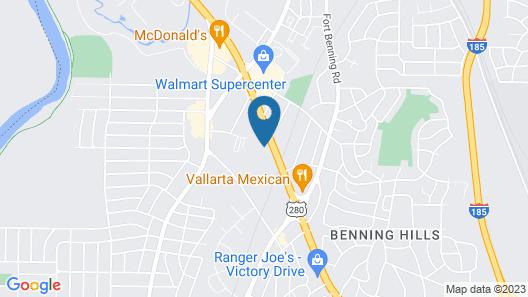 Sleep Inn & Suites Columbus - Fort Benning Area Map