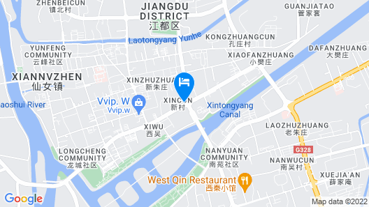 Greentree Inn Jiangdu Longcheng Road Express Hotel Map