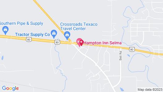 Hampton Inn Selma Map