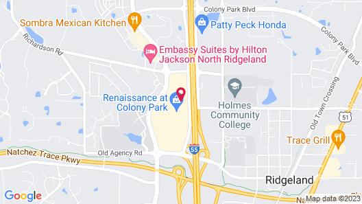 Hyatt Place Jackson/ Ridgeland Map