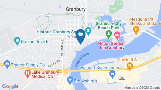 Inn on Lake Granbury Map