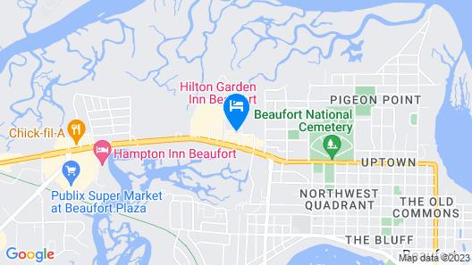 Hilton Garden Inn Beaufort Map