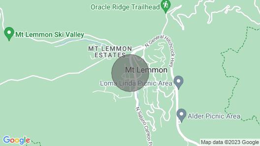 Beautiful Mountain Retreat in Summer Haven - Mt. Lemmon, Arizona Map