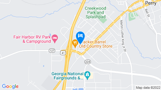 Travelodge by Wyndham Perry GA Map