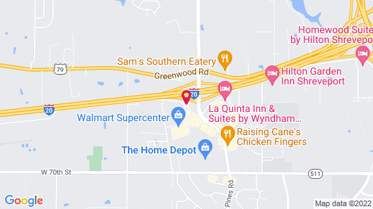 Wingate by Wyndham Shreveport Airport Map