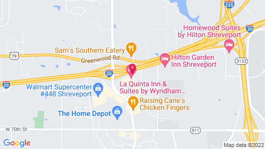 La Quinta Inn & Suites by Wyndham Shreveport Airport Map