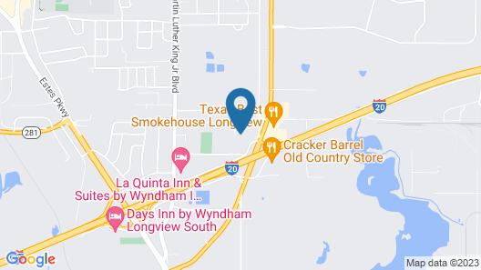 Quality Inn & Suites Longview I-20 Map