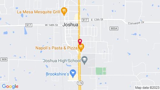 Motel 6 Joshua, TX Map