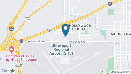 Hampton Inn Shreveport Airport Map