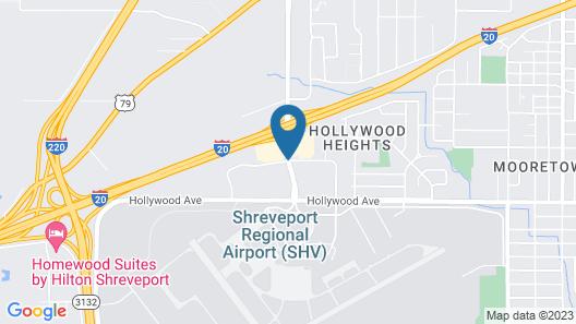 Quality Inn Shreveport Map