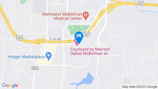 Courtyard by Marriott Dallas Midlothian-Midlothian Conf Ctr Map