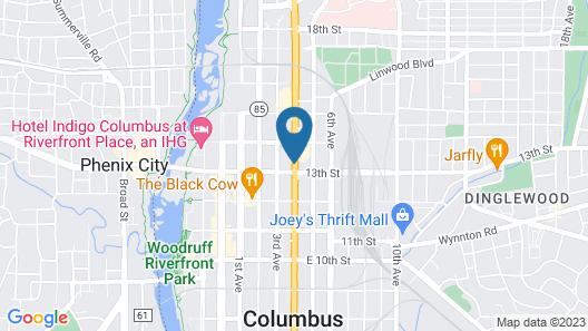 Motel 6 Columbus, GA - Downtown Map